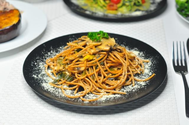 white wine creamy coconut wholegrain pasta